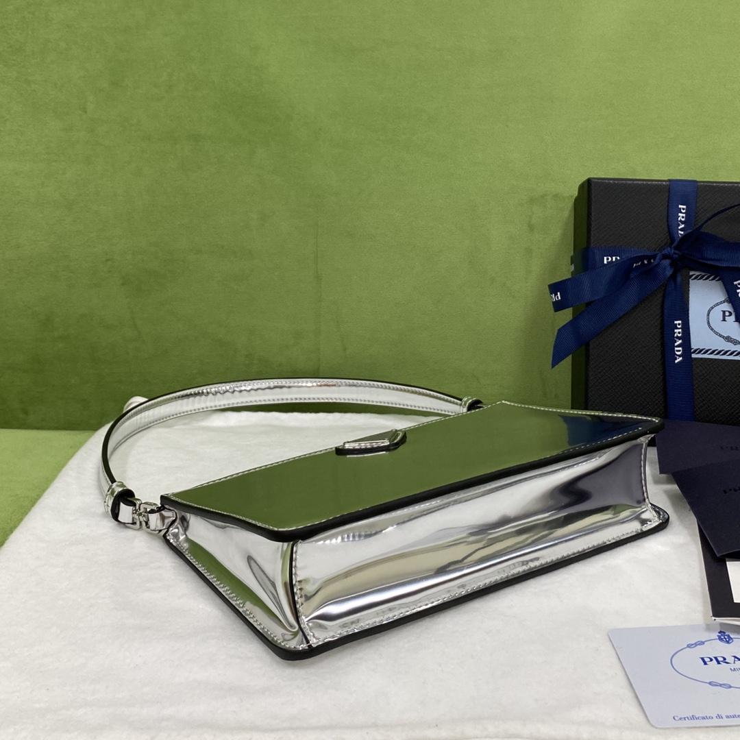 【P900】Prada包包官网 普拉达2021夏季新款单肩女包腋下包20CM 银色