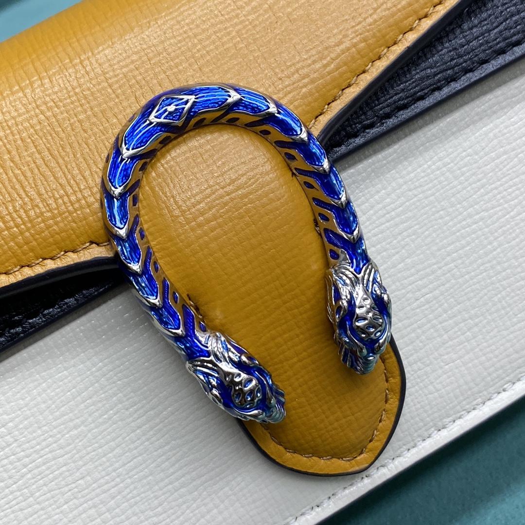 【P750】古奇热销女包 Gucci Dionysus亮色拼色迷你酒神包链条小包16.5CM