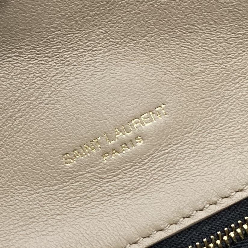 【P1320】YSL包包价格 圣罗兰新款655004杏色菱格羊皮手拿包信封包35CM