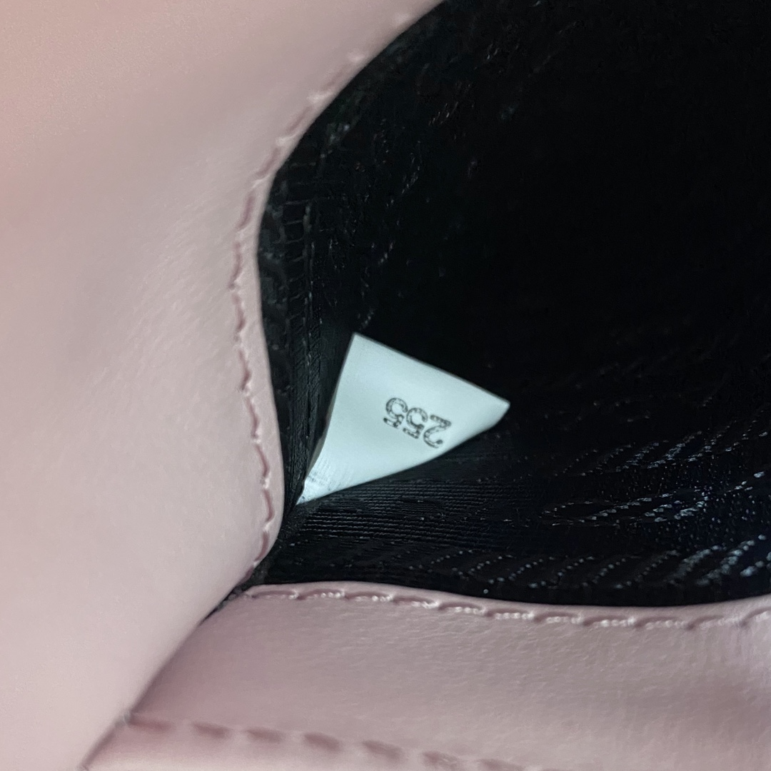 【P980】普拉达包包批发 Prada mini tote粉色光面牛皮迷你手提斜挎包