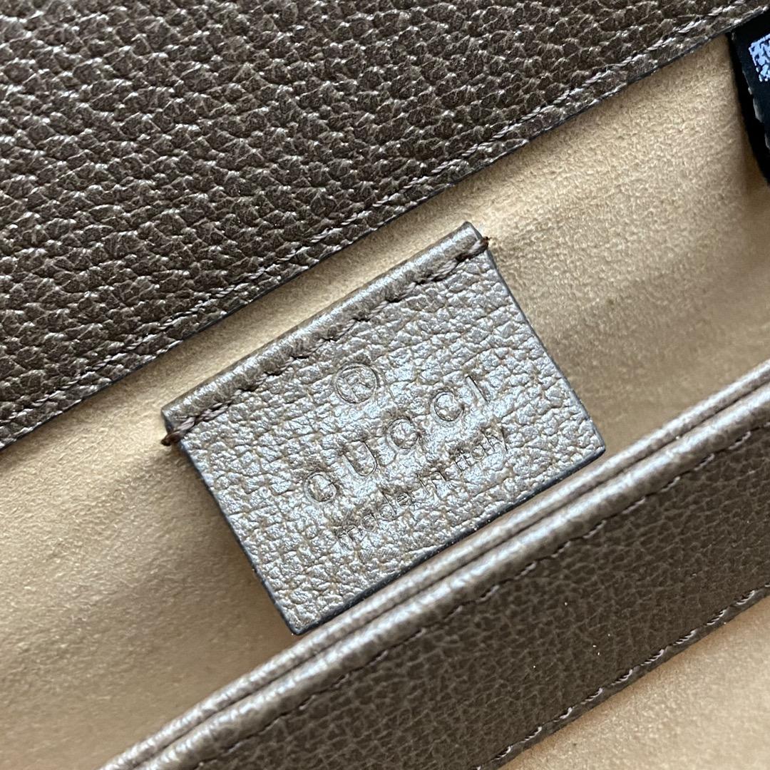 【P1050】Gucci包包官网 古驰象征性织带ophidia迷你小号链条单肩包19CM