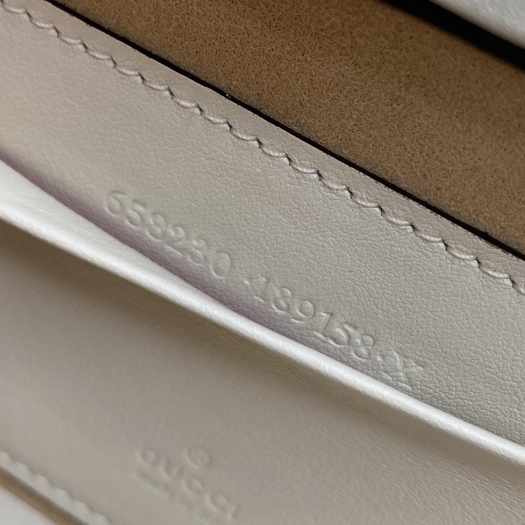 【P1280】古奇包包货源 Gucci padlock系列方形盒子包斜挎女包 白色