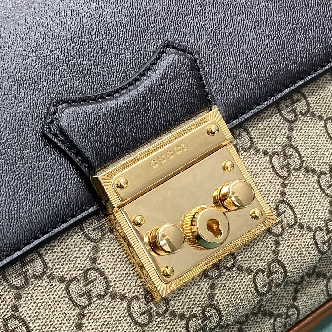 【P1350】古驰包包批发 Gucci Padlock通勤斜挎手提邮差包大号27CM