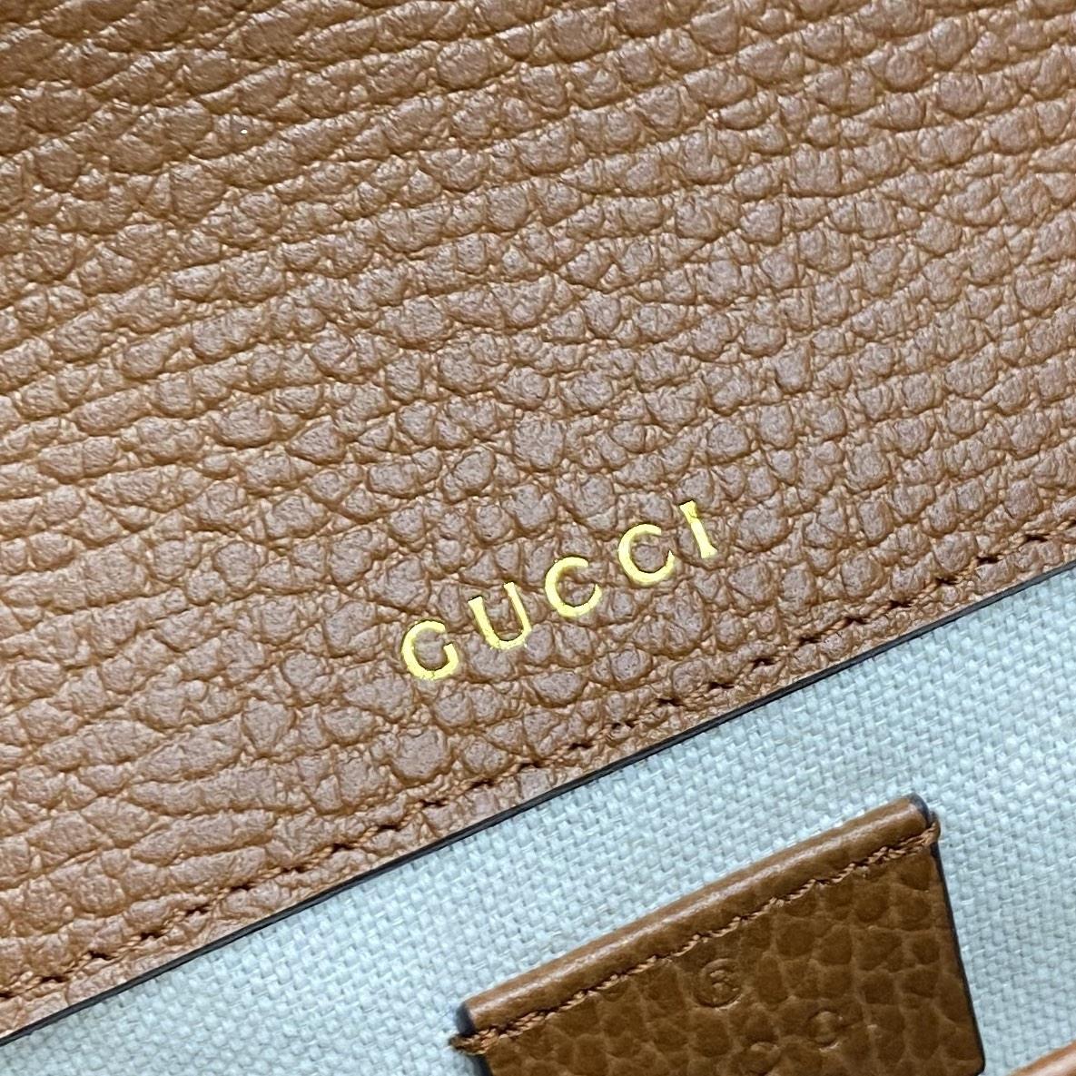 【P1280】Gucci新款女包 古奇1955系列牛仔马鞍包斜挎单肩包20CM