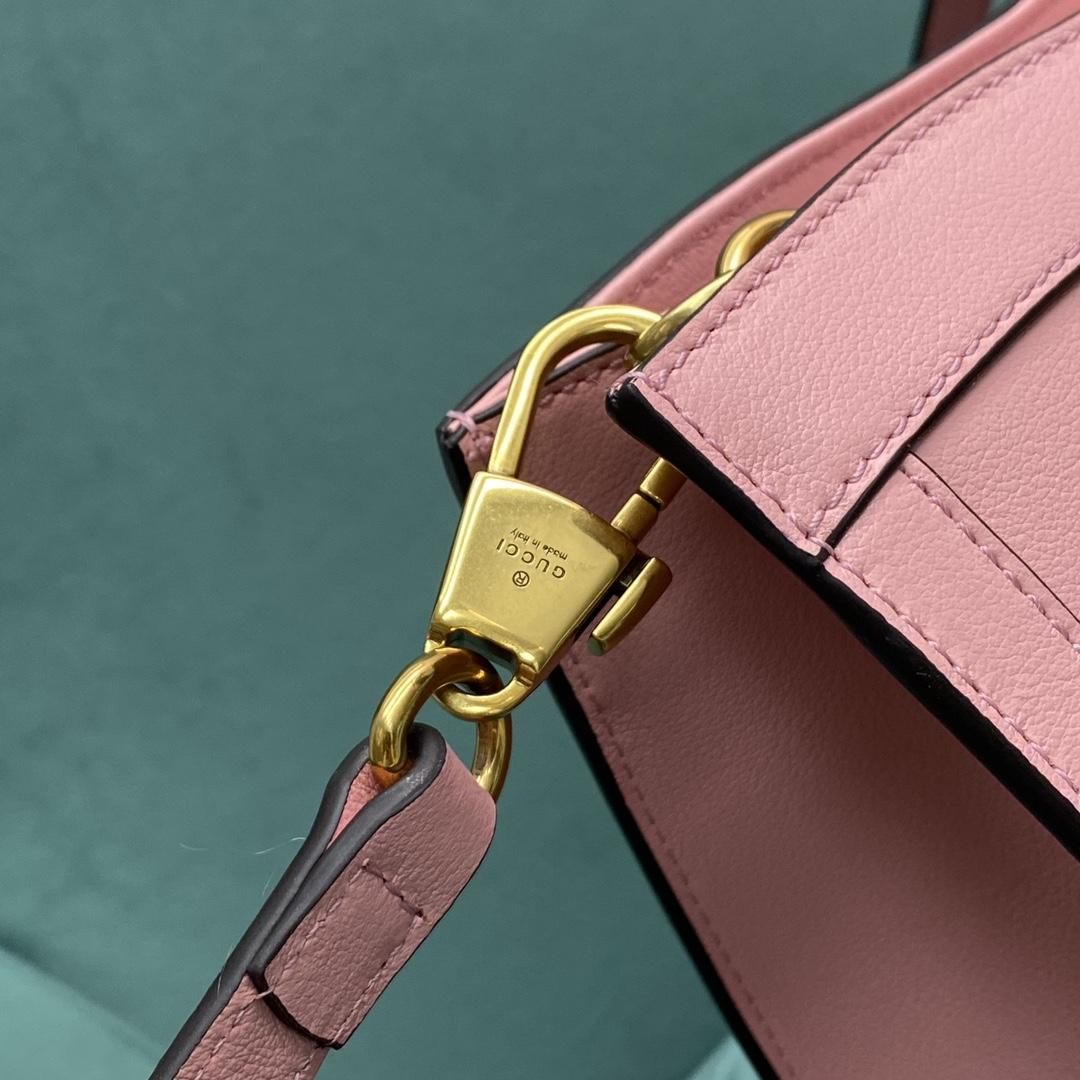 【P1430】Gucci包包批发 古奇新款660195粉色Diana竹节包斜挎手提包大号