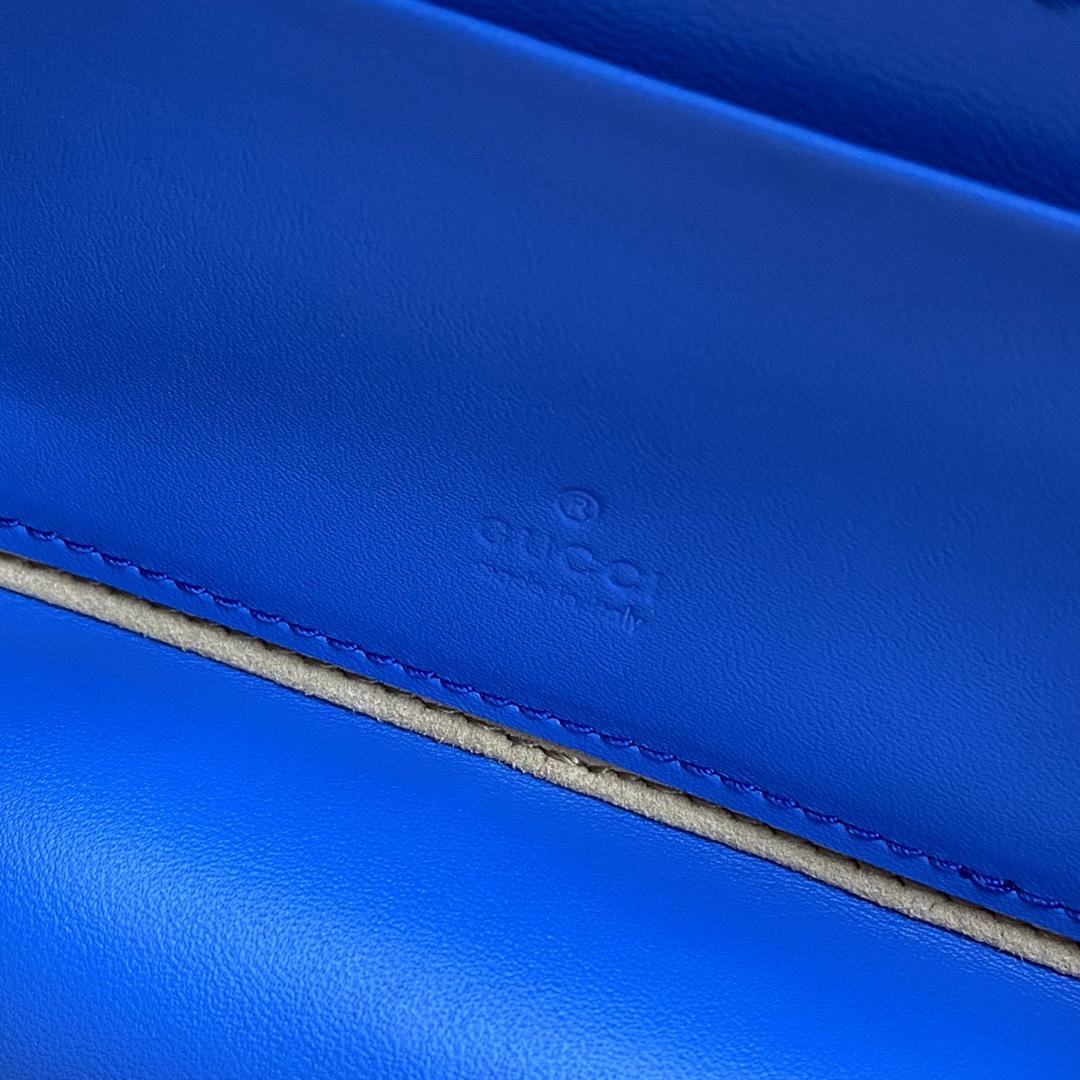 【P1280】一件代发 Gucci古驰658230蓝色padlock系列斜挎包盒子包17CM