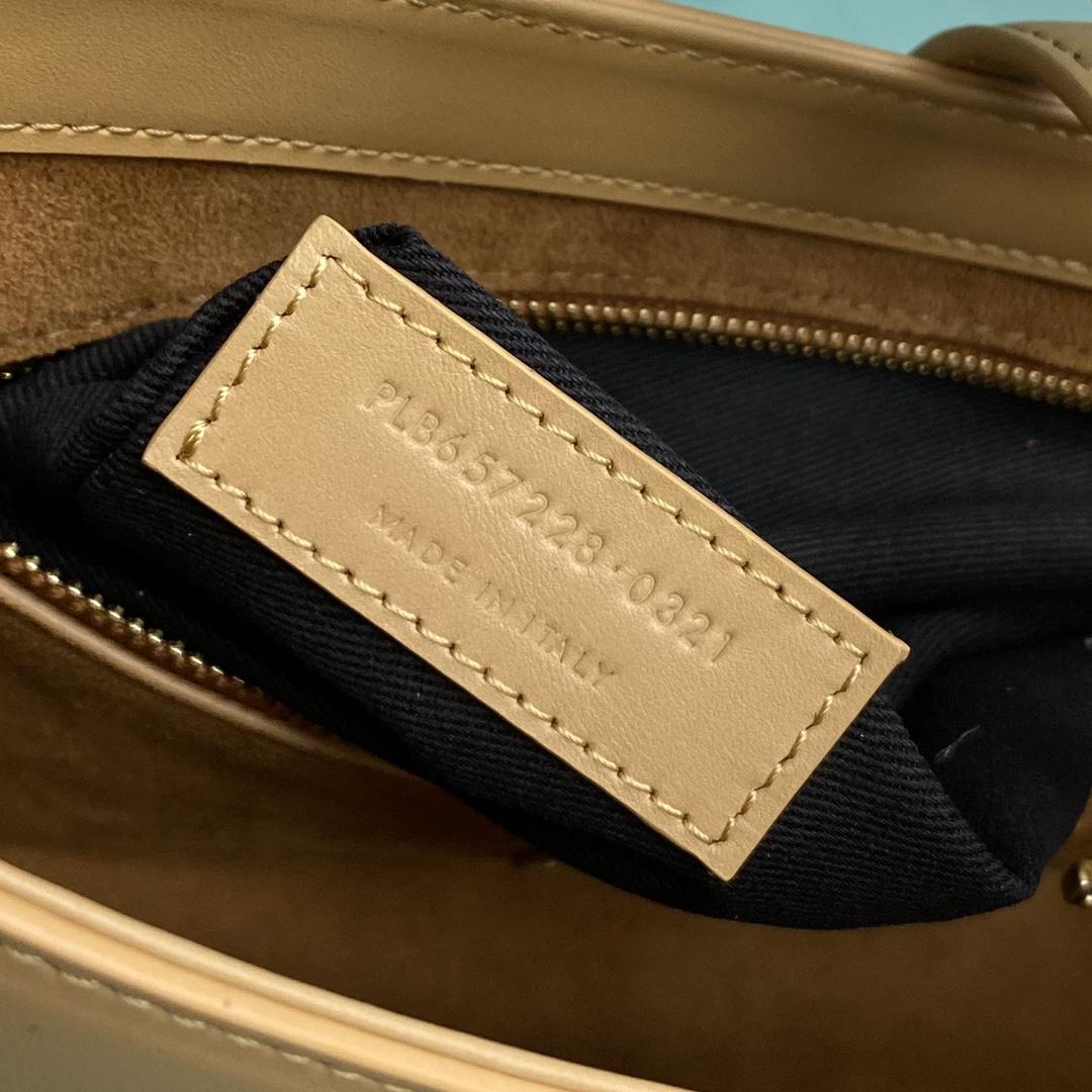 【P1130】YSL包包官网 圣罗兰新款657228杏色原厂皮单肩女包腋下包