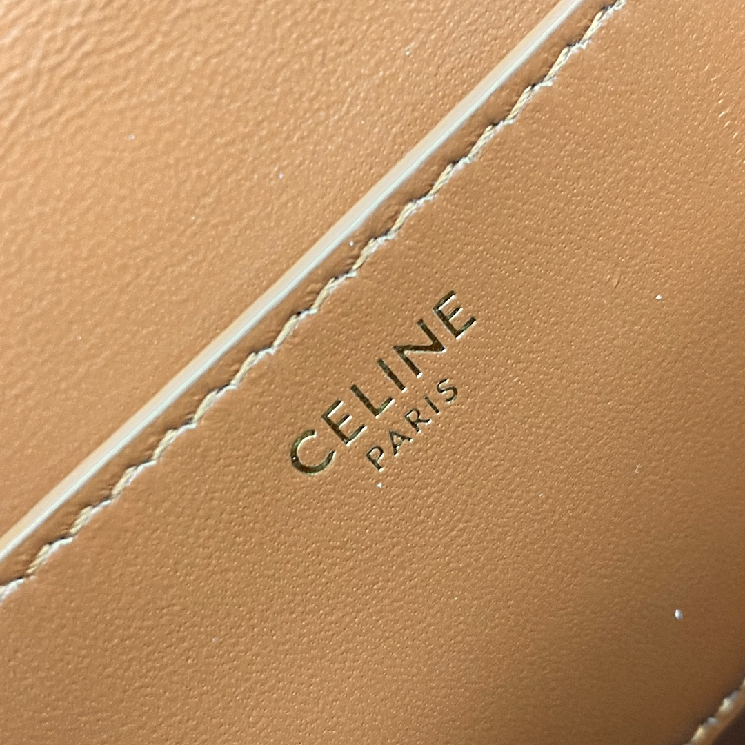 【P1020】思琳2021秋冬新款女包 Celine TaBou Clutch单肩包 101592 黄褐棕