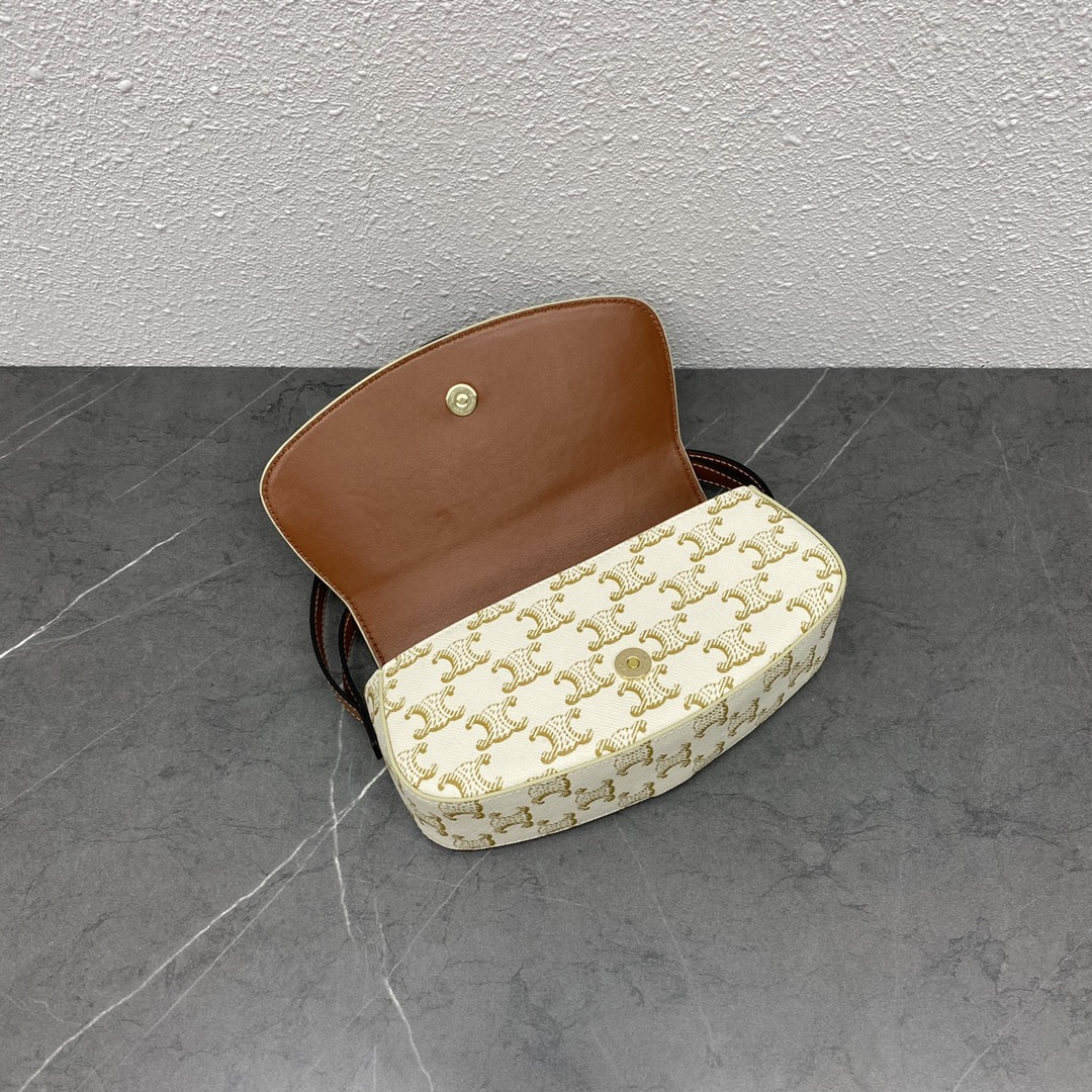 【P870】Celine包包货源 思琳101592米白棕TaBou Clutch手拿包单肩包