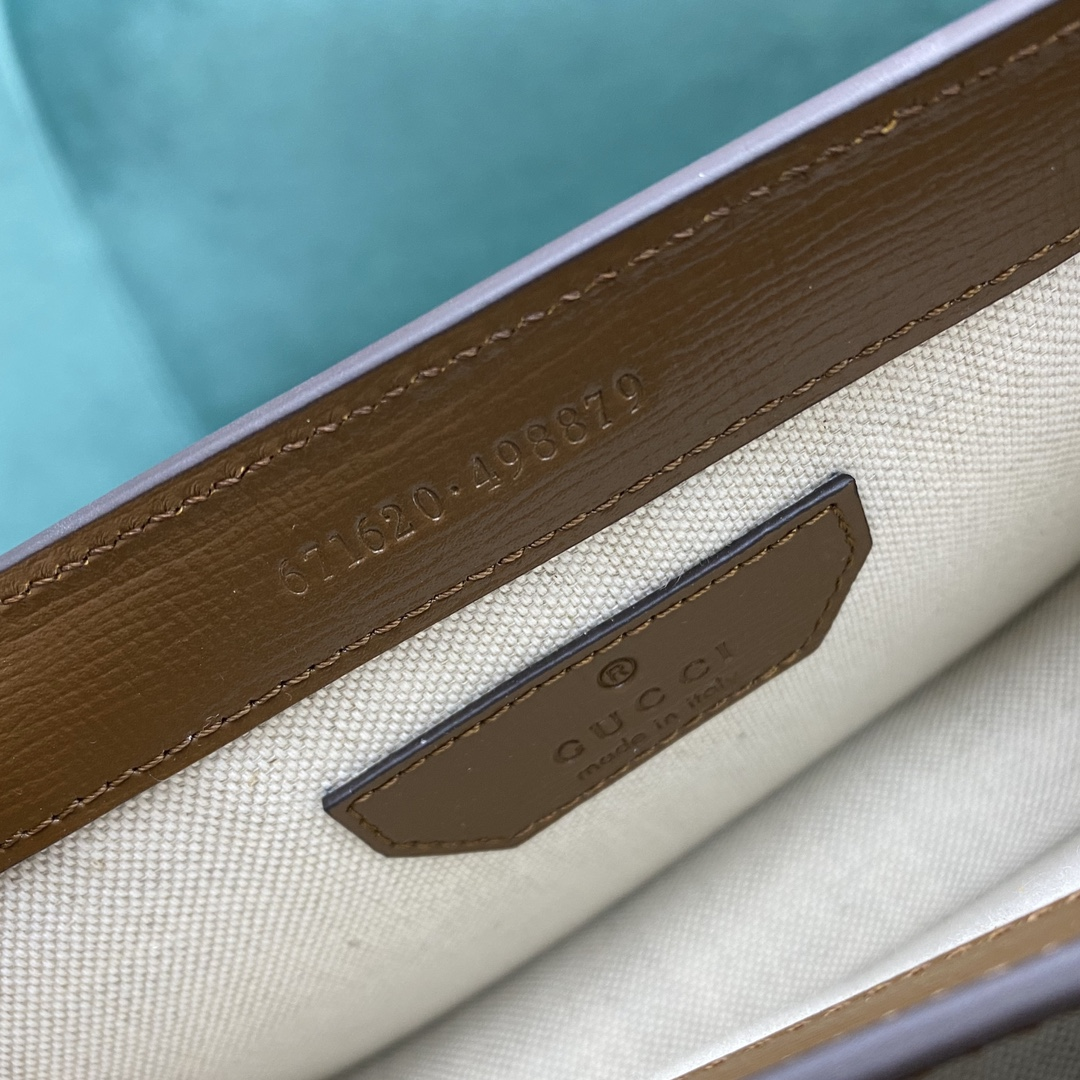 【P1130】Gucci包包官网 古奇671620复古中性款风琴包单肩斜挎包20CM