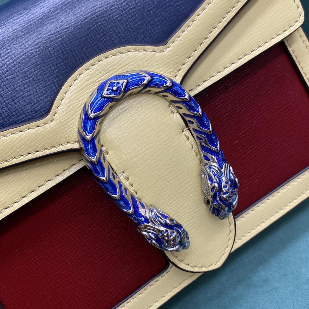 【P1130】古驰包包价格 Gucci Dionysus酒神包三色拼色链条单肩斜挎包20CM
