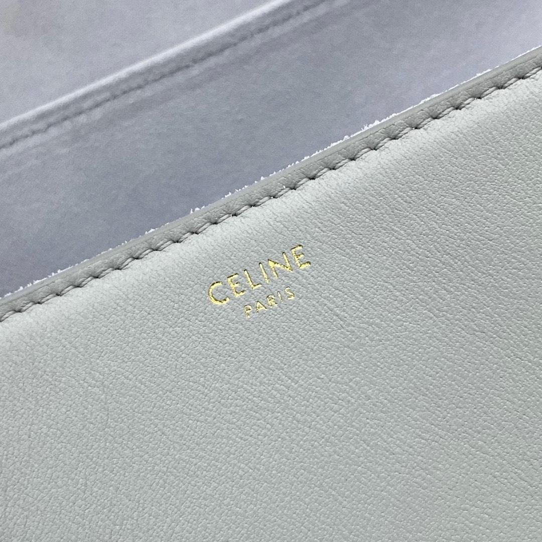 【P2100】思琳秋冬新款女包 Celine平纹矿物色195543Soft16小号单肩包