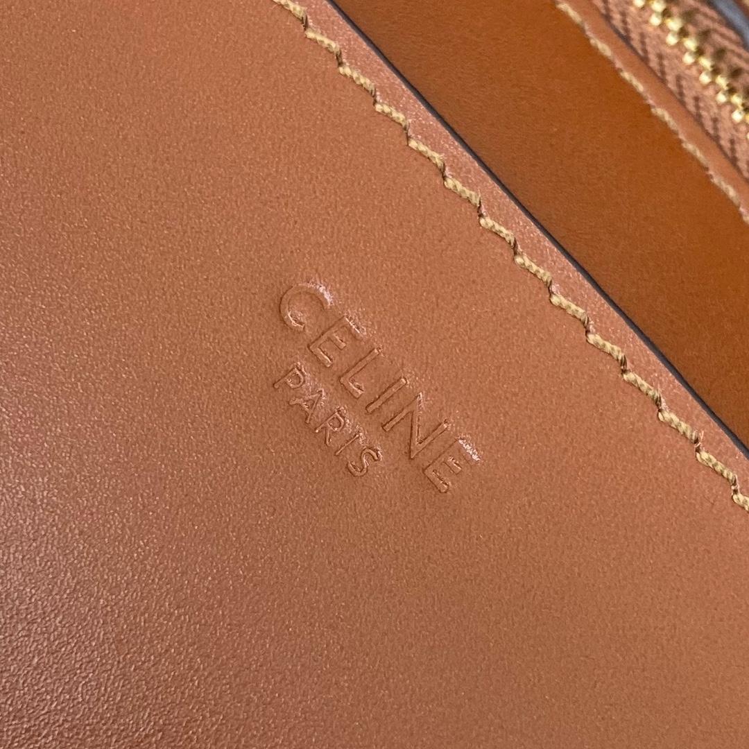 【P1950】Celine包包批发 思琳黄褐棕秋冬小牛皮斜挎水桶包 Lisa代言款