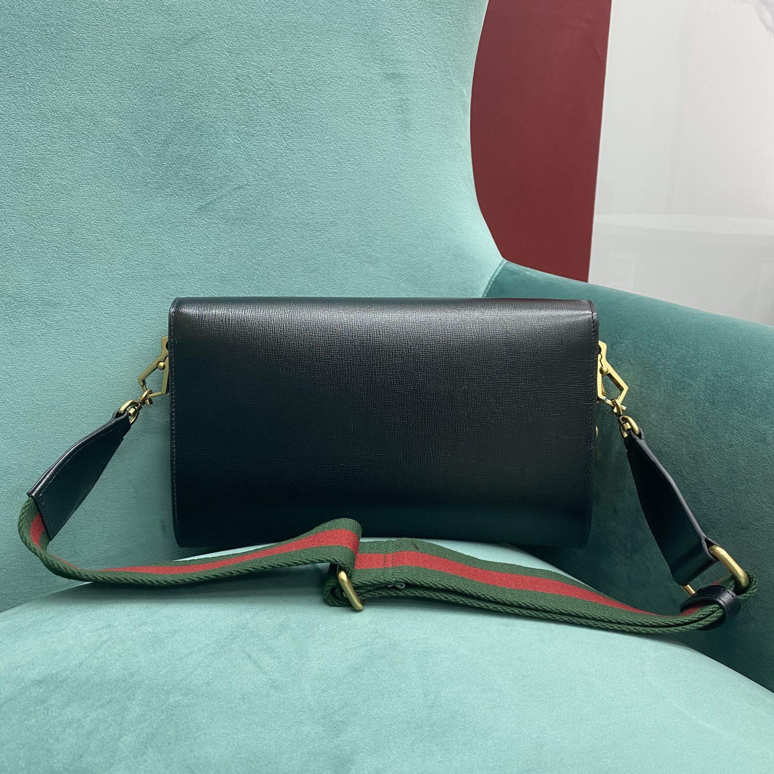 【P1050】Gucci包包价格 古驰新款677286黑色1955信封包手包多用女包