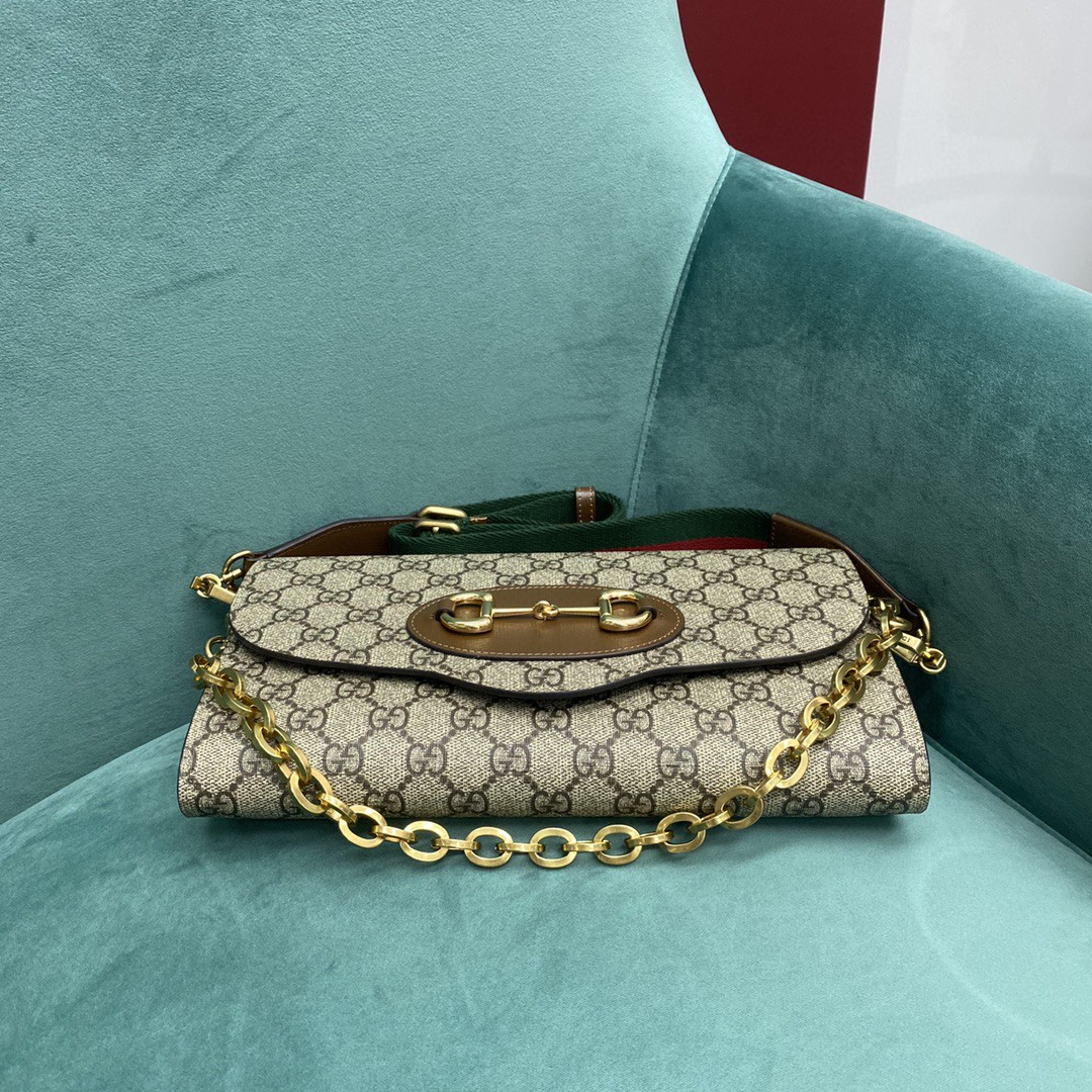 【P900】古奇2021新款包包 Gucci爆款1955链条信封包腋下斜挎包677286