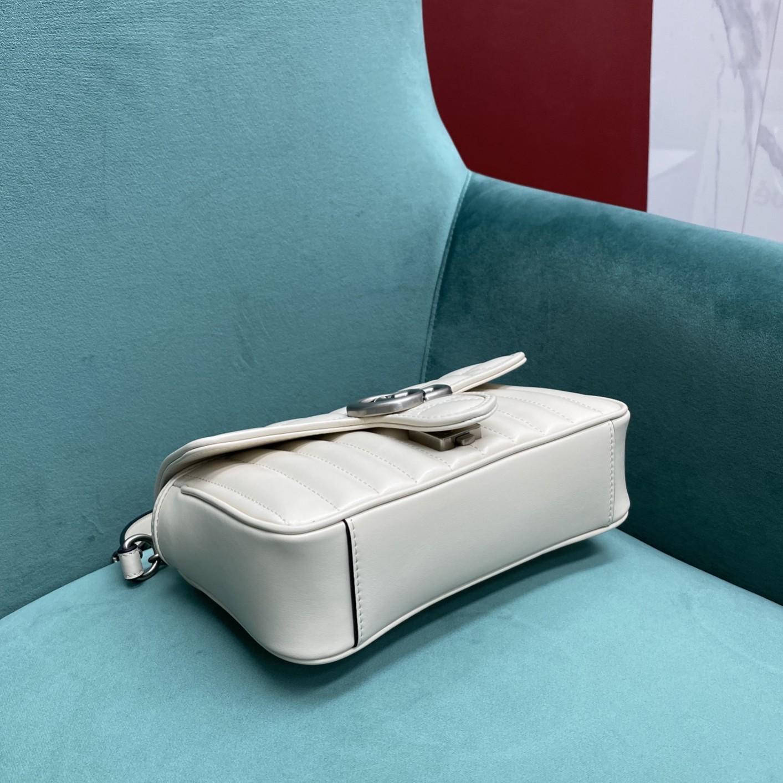 【P1250】Gucci2021新款女包 古驰Marmont新格系列绗缝包链条包 白色