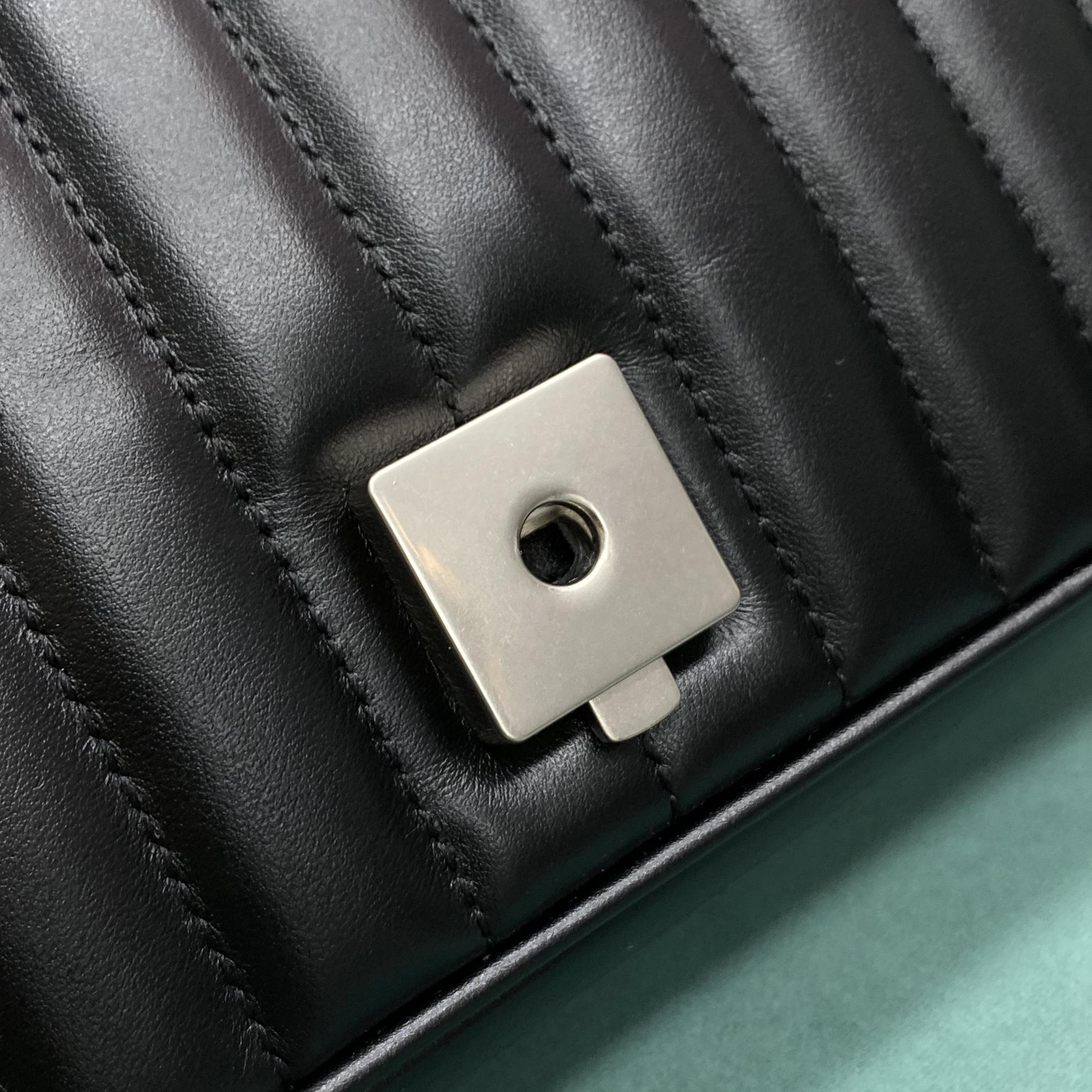 【P1250】古奇新格系列女包 Gucci Marmont几何风格绗缝链条单肩包22CM